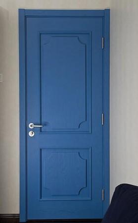 蓝色做旧木纹贴图