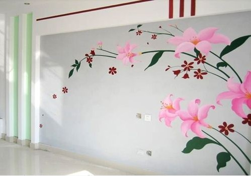 创意墙绘的田园风情